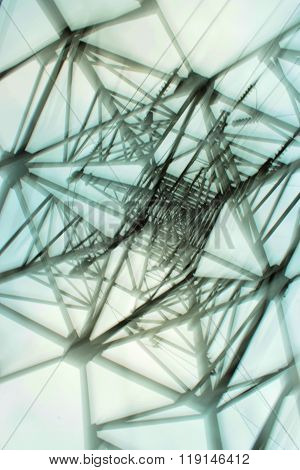 Abstract Electro network Installation With Wires