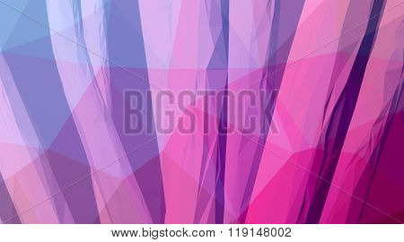Photo of highly detailed multicolor polygon. Abstract architecture background. Internal space oF a m