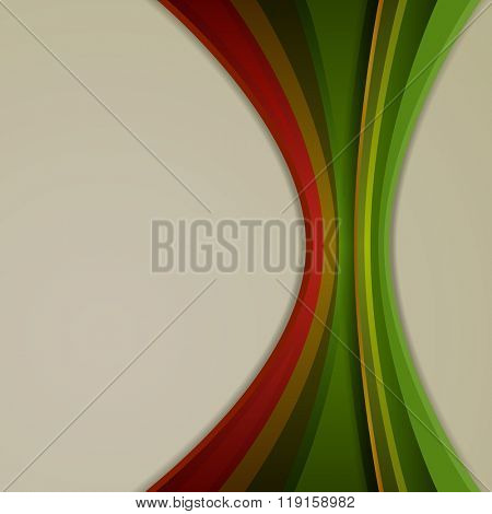 Abstract color vertical curvy stripes vector background.