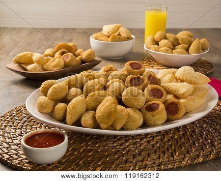Mixed Brazilian Snacks Fried