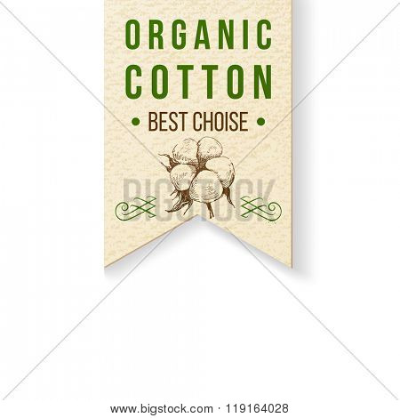 Organic cotton paper label with type design