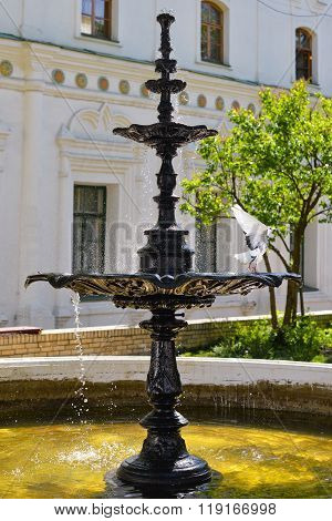 Kiev, Ukraine: May, 2015: Fountain of holy water at Kiev Pechersk Lavra, Kiev Ukraine