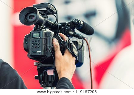 Television Camera Recording An Event
