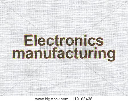 Industry concept: Electronics Manufacturing on fabric texture background