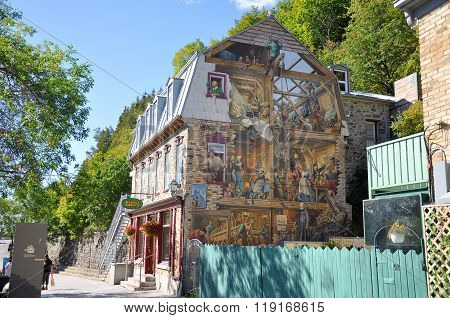Fresque du Petit Champlain, Quebec City, Canada