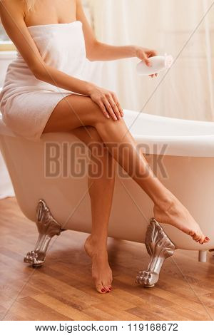 Woman In The Bathroom