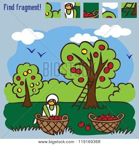 Game Find Fragment Picking Apples