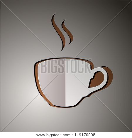 vector illustration of cup of coffee. coffee logo. coffee design. drink logo. coffee background. cup