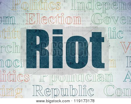 Politics concept: Riot on Digital Paper background