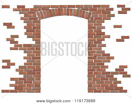 Arch In Brick Wall