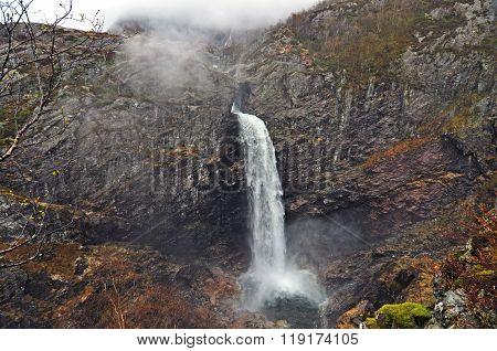 Norway. Norwegian waterfall