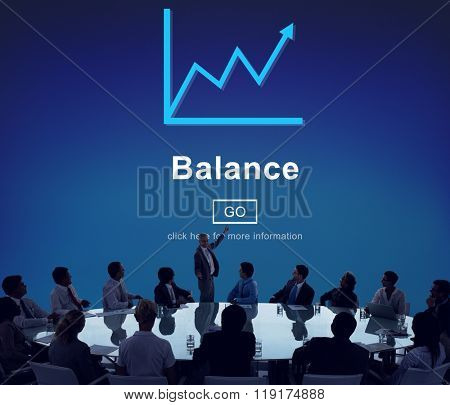 Balance Growth Finance Data Business Concept