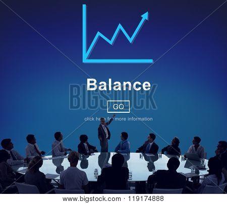 Balance Growth Finance Data Business Concept