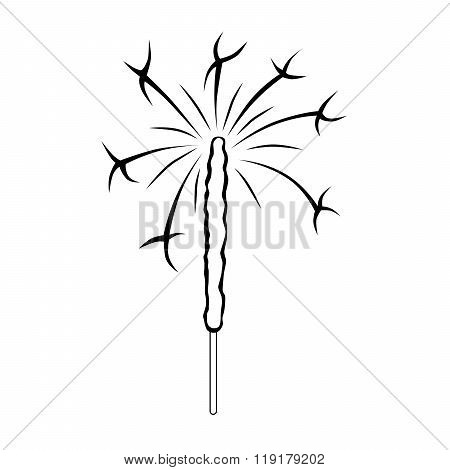 Abstract black white sparklers isolated illustration vector