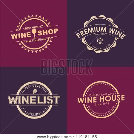 Logo Design For Wine Shops, Cafes, Restaurants