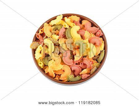 Wholegrain Italian Pasta In Bowl