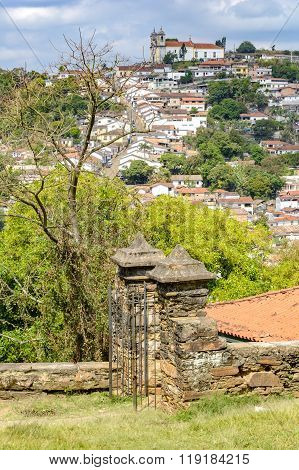 Partial view of the slopes Ouro Preto