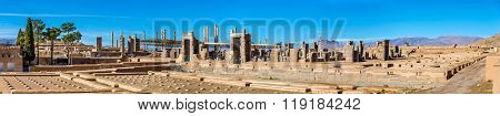 Ruins of Imperial Treasury at Persepolis, Iran