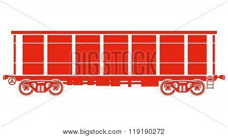 Open Railway freight car - Vector illustration