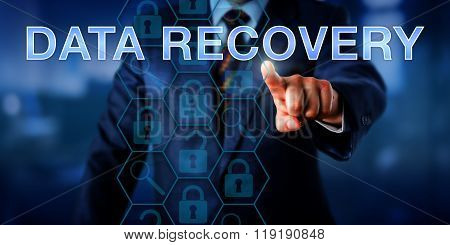 Manager Pointing At Data Recovery.
