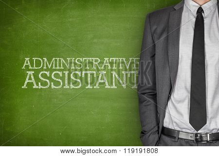 Administrative assistant on blackboard