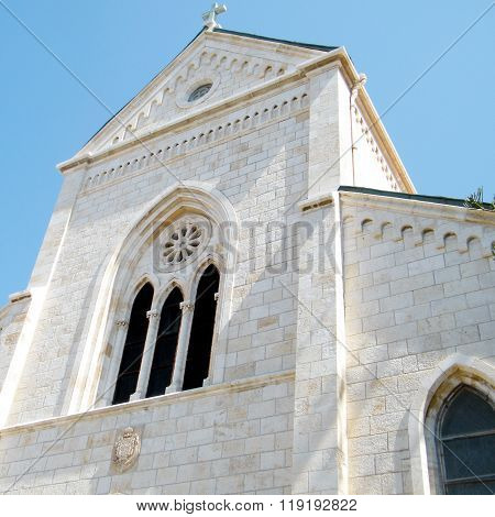 Jaffa Pediment Of Franciscan Church Of St. Anthony 2011