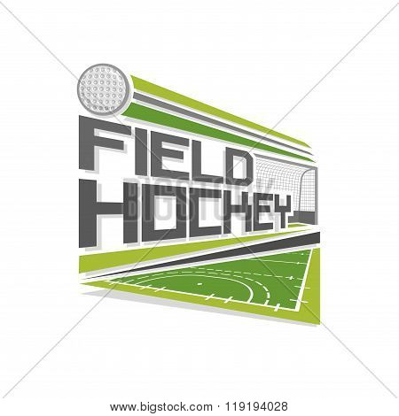 Vector logo for field hockey sport
