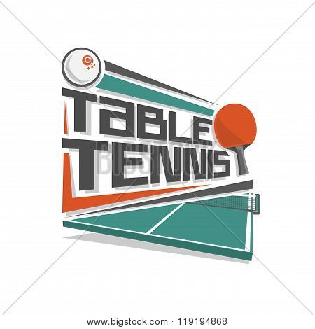 Vector logo for table tennis sport