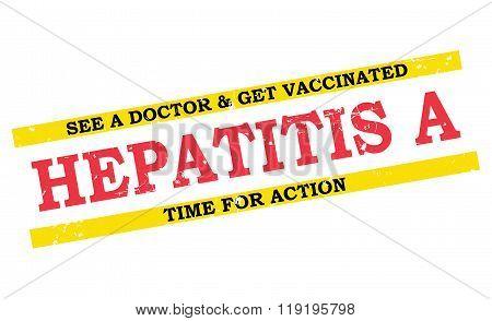 Hepatitis A grunge label / badge.