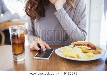 Phone Panini And Cola Woman
