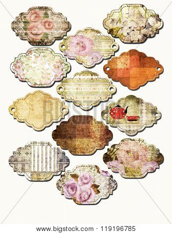 Art Set Of Vintage Frame Lables Isolated