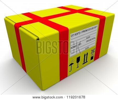 Yellow parcel