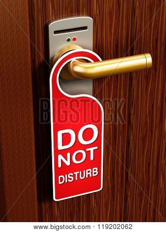 Do Not Disturb Sign On The Door