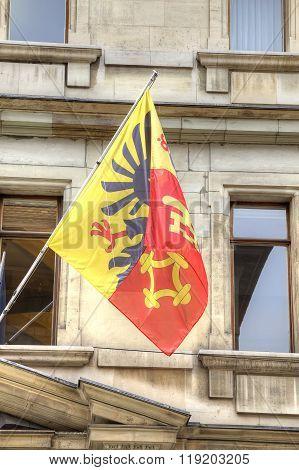 Flag On A House