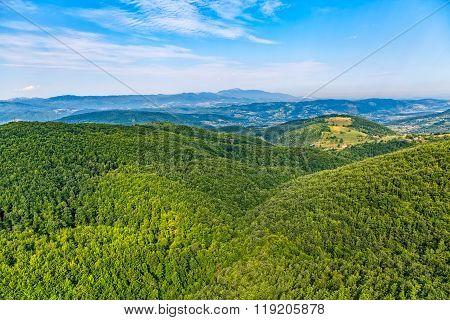 Montenegro mountains aerial view