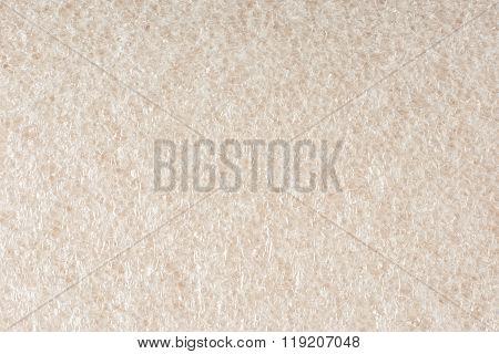 Foam plastic macro texture like tiny soap bubbles pattern. White background