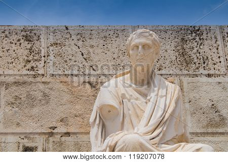 Statue Of Menander, Acropolis, Athens, Greece