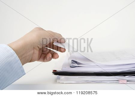 Person with paperwork