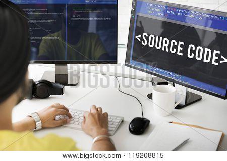 Source Code Data Coding Computer Concept