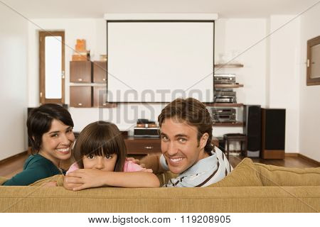 Family in living room