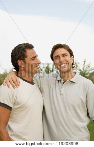 Two men outdoors
