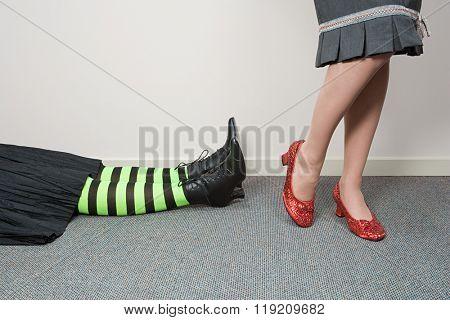 Office worker lying down