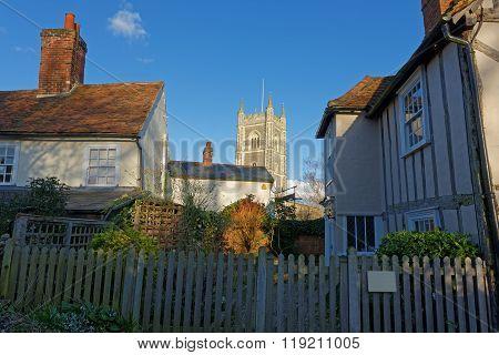 View Of Dedham Village Church,uk