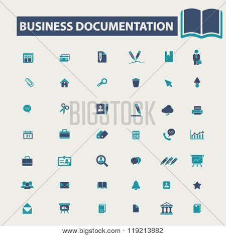 business documentation, document management, business icons
