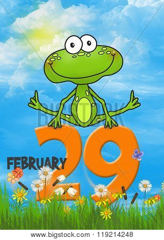 frog leaping over number 29