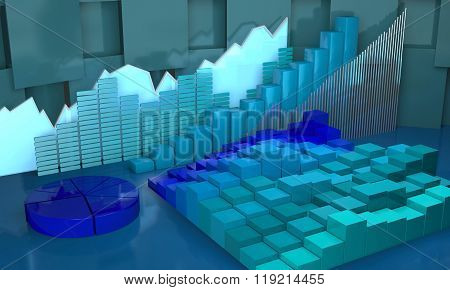 Progress In Business Abstract Background.