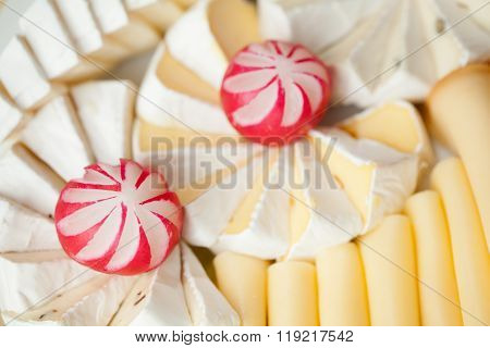 Set of delicious cheeses