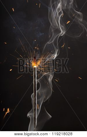 Fire And Smoke Abstract