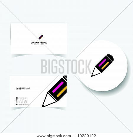 Business Card Illustration On White