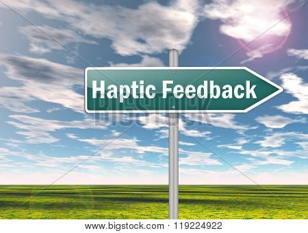 Signpost Haptic Feedback
